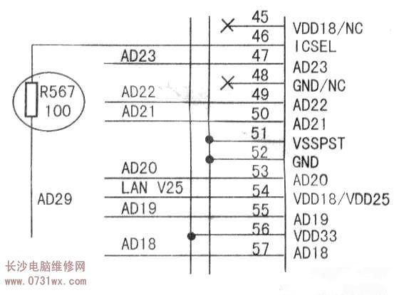 3v电压通过一个简单的分压电路来使其保持高电平状态